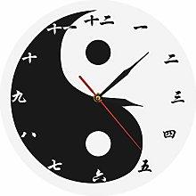 gongyu Wall Clock Vintage Yin Yang Modern Wall