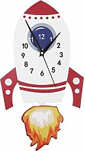 Gonnely Wall Clocks-Cartoon Mute Wall Clock Kids