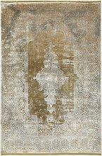 Gooch Luxury Distressed Medallion Rug, Bronze