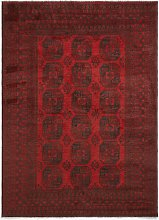 Gooch Luxury Hand Knotted Afghan Elephant Rug, Red
