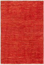 Gooch Luxury Hand Knotted Gabbeh Rug, Red