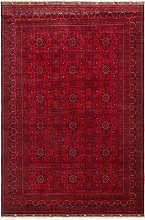 Gooch Luxury Hand Knotted Kundos Rug, Red