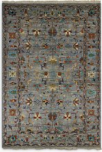 Gooch Oriental Sultani Rug, Blue/Multi, L245 x