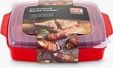 good2heat PLUS Microwave Bacon Crisper, Red/Clear