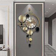 GoodWell Decorative Wall Clock, Modern Metal Wall