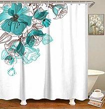 GOOESING Teal Shower Curtain for Bathroom Aqua