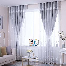 GOPG Double Layer Voile Curtain, Opaque with