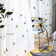 GOPG Translucent Embroidered Curtain, Super Soft