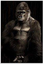 Gorilla Canvas Monkey Wall Art Portrait Print for