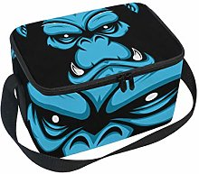 Gorilla Face Lunch Box Insulated Lunch Bag Large