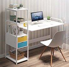 GORVELL Computer Desk with 2 Drawers Storage