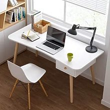 GORVELL Modern Simple White Writing Study Table
