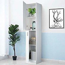 GORVELL Simple Tall White Bathroom Cabinet Storage