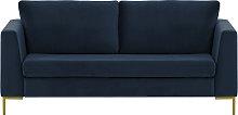 Gosena 2,5 Seater Sofa-Velluto 11-gold metal