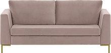 Gosena 2,5 Seater Sofa-Velluto 14-gold metal