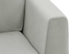 Gosena 2,5 Seater Sofa-Velluto 15-chrome metal