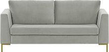 Gosena 2,5 Seater Sofa-Velluto 15-gold metal