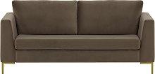 Gosena 2,5 Seater Sofa-Velluto 17-gold metal