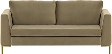 Gosena 2,5 Seater Sofa-Velluto 3-gold metal