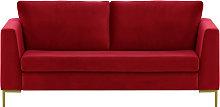 Gosena 2,5 Seater Sofa-Velluto 7-gold metal
