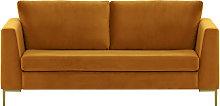 Gosena 2,5 Seater Sofa-Velluto 8-gold metal