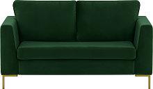 Gosena 2 Seater Sofa-Velluto 10-gold metal