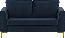 Gosena 2 Seater Sofa-Velluto 11-gold metal