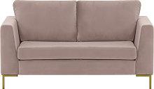 Gosena 2 Seater Sofa-Velluto 14-gold metal