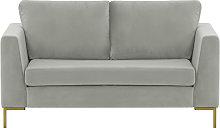 Gosena 2 Seater Sofa-Velluto 15-gold metal