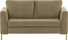 Gosena 2 Seater Sofa-Velluto 3-gold metal