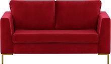 Gosena 2 Seater Sofa-Velluto 7-gold metal