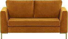 Gosena 2 Seater Sofa-Velluto 8-gold metal