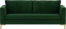 Gosena 3 Seater Sofa-Velluto 10-gold metal
