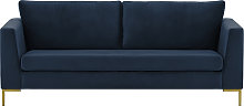 Gosena 3 Seater Sofa-Velluto 11-gold metal