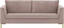 Gosena 3 Seater Sofa-Velluto 14-gold metal
