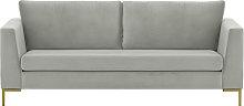 Gosena 3 Seater Sofa-Velluto 15-gold metal