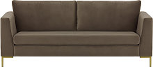 Gosena 3 Seater Sofa-Velluto 17-gold metal