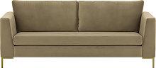 Gosena 3 Seater Sofa-Velluto 3-gold metal