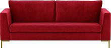 Gosena 3 Seater Sofa-Velluto 7-gold metal
