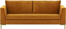 Gosena 3 Seater Sofa-Velluto 8-gold metal