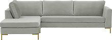 Gosena Left Hand Corner Sofa-Velluto 15-gold metal