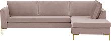 Gosena Right Hand Corner Sofa-Velluto 14-gold metal