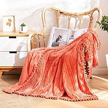 GOSHITONG Throw Blanket Flannel Fleece Stripe