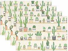 GOSMAO Heat Resistant Placemats Succulent Cactus