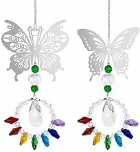 GOTH Perhk Pack of 2 Butterfly Suncatchers,