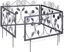 GOTH Set of 4 Metal Garden Fencing Panels, Yard