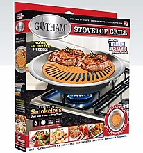 Gotham Steel Stove Top Grill, Aluminum, Brown, 1