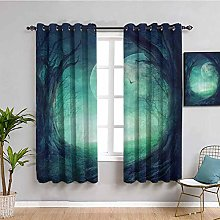 Gothic Decor Light Blocking Curtains for Living