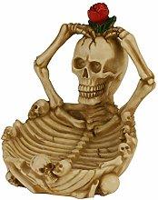 Gothic Skull Ashtray Resin Skull Ornament Skull
