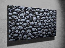 Gothic Skulls 3D Photo Canvas Print (96532671)